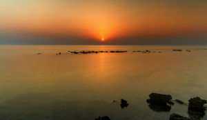Umm Bab, Qatar, the sun sets... Photo by Ziad Hunesh